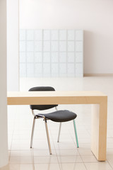 Table and office chair