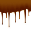 Milk chocolate drips. Seamless vector.