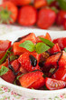 Strawberry tomato salad