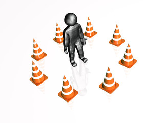Precautionary cones