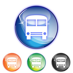 Picto vehicule car - Icon vehicle bus - collection color