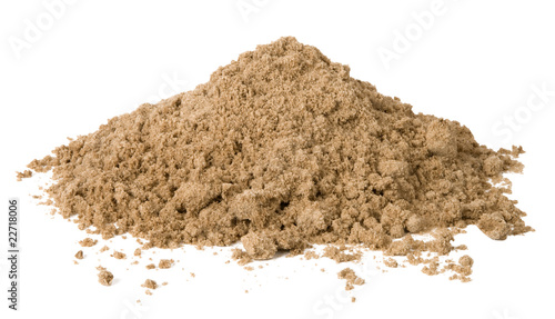 Leinwandbild Motiv Pile of sand isolated on white