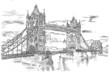 Tower Bridge - hand drawing illustration