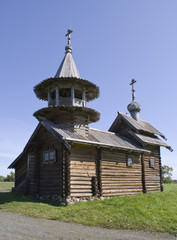 Kizhi, Russia. The Chapel of the Archangel Michael 17th-18th cen