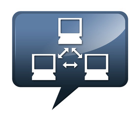 "Speech bubble shaped icon ""Computer Network"""