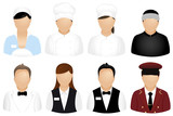 Restaurant People Icons poster
