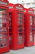 Typical red London phone booth