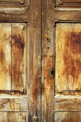 aged golden weathered wooden door