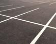 Leinwanddruck Bild - Empty parking lots