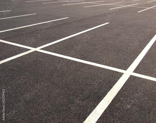 Leinwanddruck Bild Empty parking lots