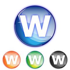 Picto lettre W - Icon letter w - collection color