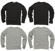 canvas print picture - Blank black and gray long sleeve shirts