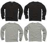 Blank black and gray long sleeve shirts poster