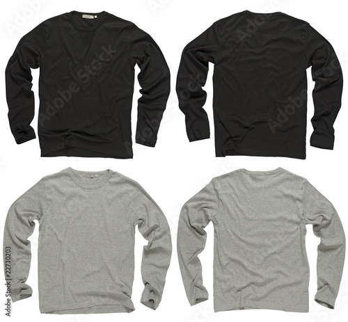Blank black and gray long sleeve shirts - 22730203