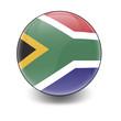 Esfera brillante con bandera Surafrica