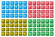 glossy square map icons
