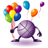 Funny basketball with baloons