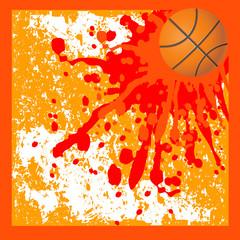 Orange blots Basket background
