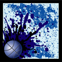 Blue blots Basket background