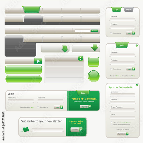 Vector Website Design Elements