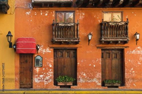 Fotobehang Caraïben Streets of Cartagena, Colombia