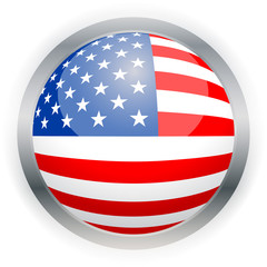 North American USA flag button
