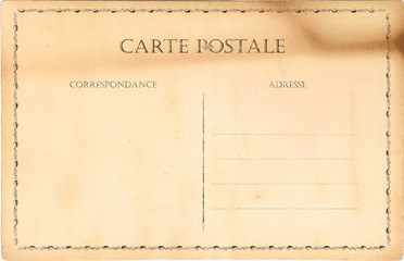 Empty old post card