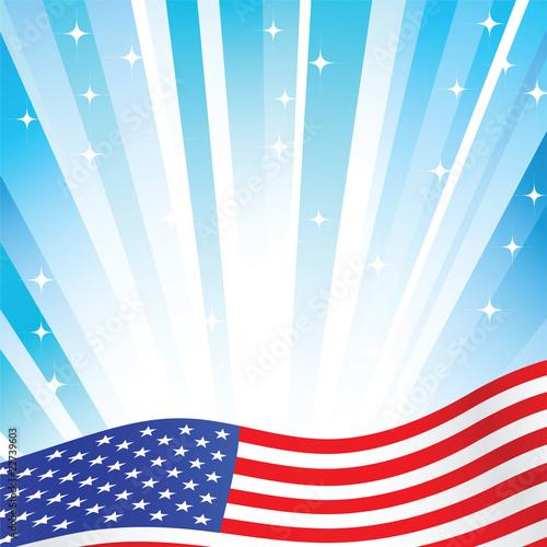 tło amerykańskiej flagi