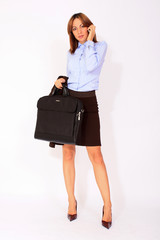Young businesswoman with a briefcase