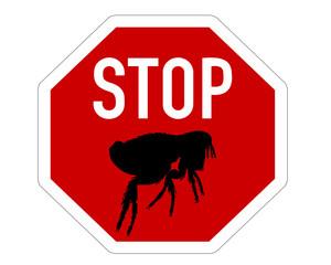 Stopschild für Flöhe