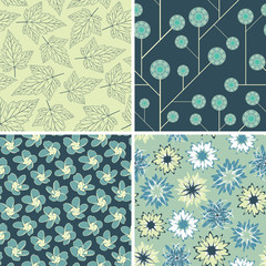 various floral patterns
