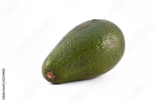 single avacado isolated on white
