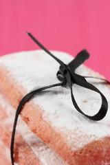 Close-up de biscuits roses