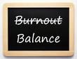 Burnout / Balance - Concept Sign