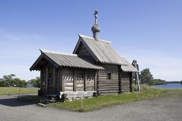 Kizhi, Russia. The Church of the Lasarus Resurrection (XIV centu