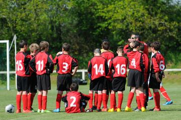 jeune équipe de football
