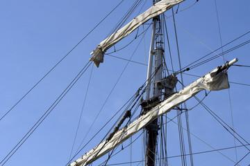 Close up of a sail