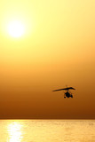 Microlight sunset
