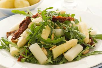 Rucola Salat mit Spargel