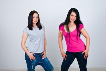 Beautiful women posing