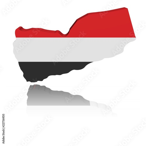 yemen map flag. Yemen map flag 3d render with reflection illustration © Stephen Finn #22756450. Yemen map flag 3d render with reflection illustration