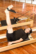 Man performing pilates