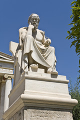 Socrates statue at the Academy of Athens in Greece