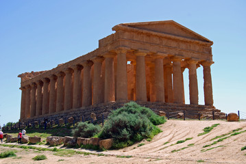 Famous Temple of the Greek civilization in Agrigento, Sicily