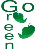 Go green, with our environment, saving natural resources. poster