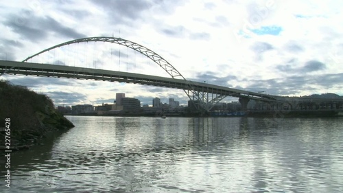 Downtown Portland and Bridge