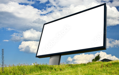 White advertising wall