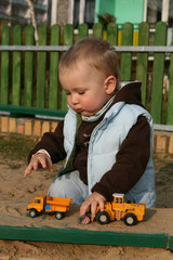 playing in the sandpit