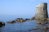 Saracen fortification along of Italian coast poster