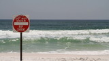 Rip Current Danger Sign poster
